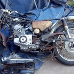Old motorcycle for parts