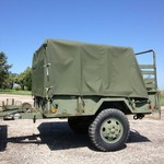 Heavy duty military trailer
