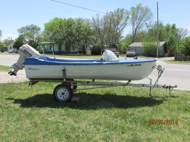 14 1965 Whitehouse Boat And Trailer W 40 Hp Johnson Motor