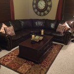 Leather Furniture Set-Sectional,Entertainment Center, Chair