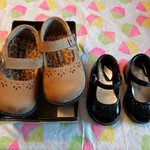 #4 Infant Girls Shoes Size 3 (2 Pair)