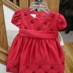 6-9 months Red Holiday Dress NWT