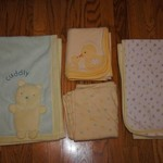 Set of 4 Like New Baby Blankets