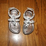 Toddler size 5 1/2 white sandals Excellent Condition
