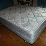 Full size bed pillow top mattress and box spring