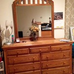 Solid blonde oak bedroom set