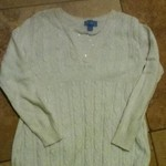 Girls childrens place 10/12 white cable knit sweater