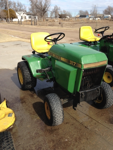 John Deere 317 Garden Tractor With Mower Deck Nex Tech Classifieds