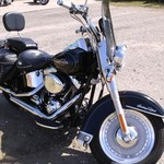 Heritage Softail Classic Black and Chrome Harley Davidson