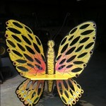 Custom Made Metal Butterfly Chair