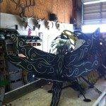 Custome Made Metal Dragonfly Chair