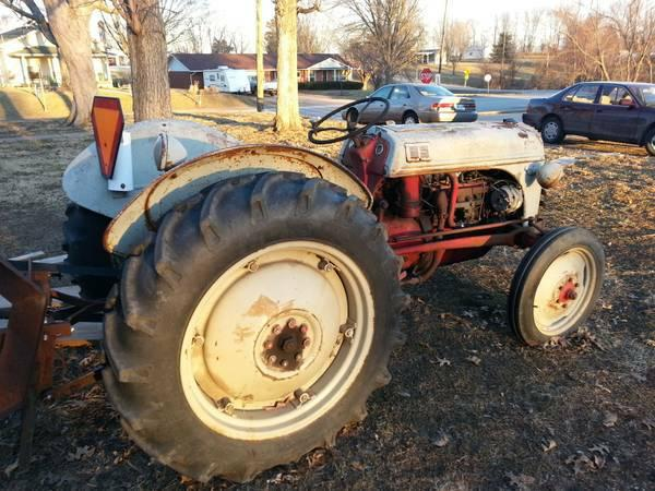 Tractor Power Take Off : Antique ford tractor with power take off driven saw nex
