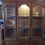 BEAUTIFUL LIGHTED CHINA  HUTCH  (REDUCED)