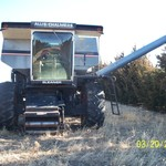 Parting out N-6 Gleaner Combine
