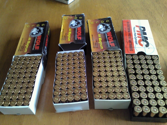 .44 Rem Mag. ammunition 4 full boxes