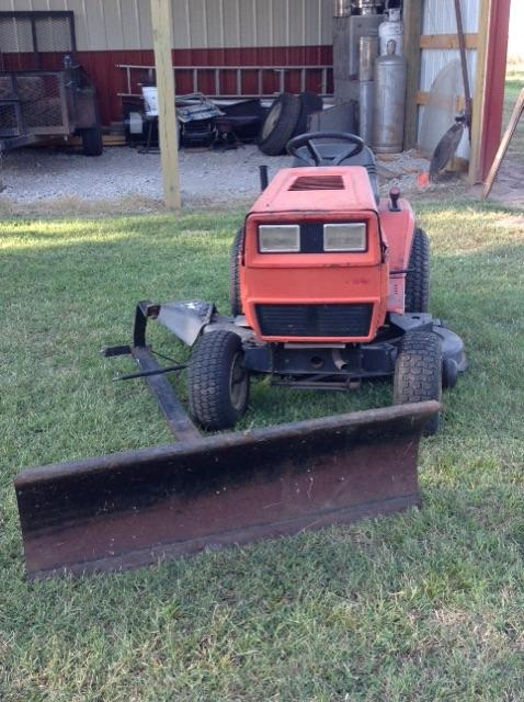 Lawn Tractor Snow Plow Blades : Mtd riding lawn tractor with snow blade tct classifieds