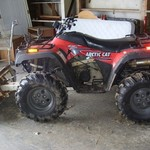 Arctic Cat 4 Wheeler w/ snow plow