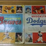 Milwaukee Braves & Brooklyn Dodgers Golden Stamp 1955 Ed