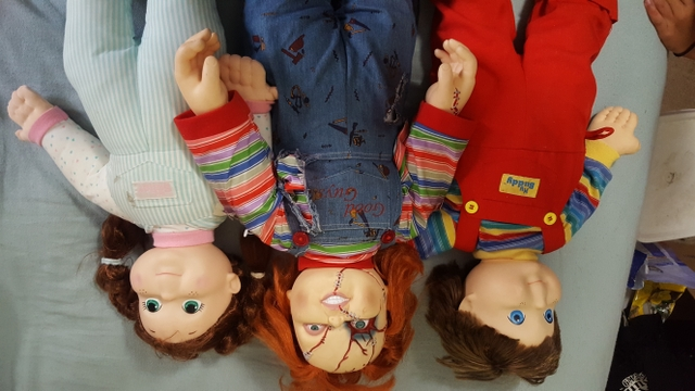 Chucky doll and his 2 buddys