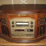 emerson radio, record,cd,cassette