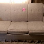 Tan sleeper sofa