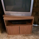 Swivel TV stand and approx 27 inch tv