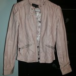 Pink Leather Jacket [Sz. Medium]