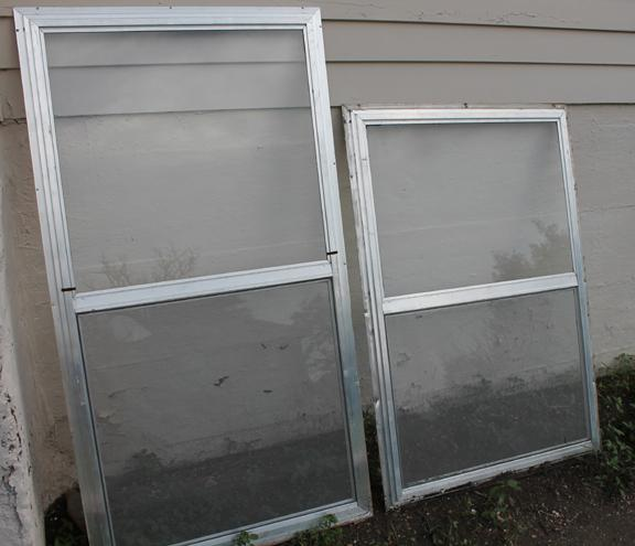 Crafts from old aluminum storm windows for Aluminum storm windows