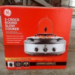 BRAND NEW GE 3-Crock Round Slow Cooker