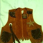 Children's (size 4) Leather Vest