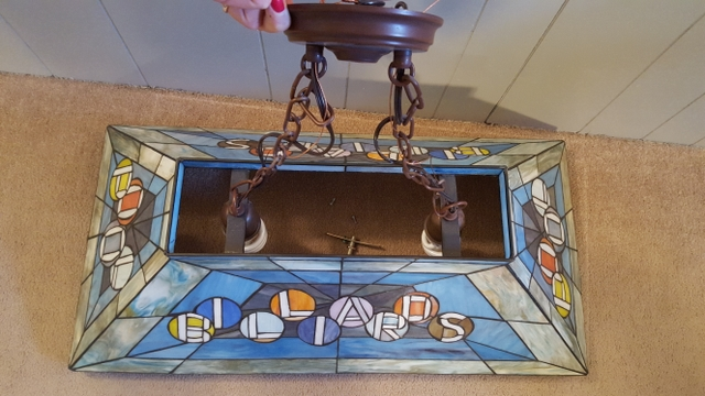 Billiards Stained Glass Pool Table Light Nex Tech Classifieds