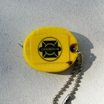 VINTAGE CHAMPLIN GAS STATION KEY CHAIN/TAPE MEASURE