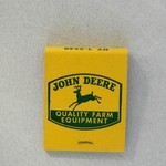 VINTAGE JOHN DEERE BOOK MATCHES WITH QUALITY FARM EQUIP. EMB