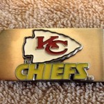 NICE KANSAS CITY CHIEFS MONEY CLIP