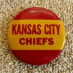 KANSAS CITY CHIEFS VINTAGE BUTTON