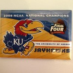 KANSAS JAYHAWKS 2008 NATIONAL CHAMPS MAGNET 2