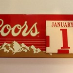 VINTAGE COORS BEER METAL DESK TOP CALENDAR 1