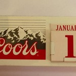 VINTAGE COORS BEER DESK TOP METAL CALENDAR 2