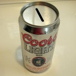 COORS LIGHT BEER CAN BANK
