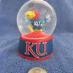 SMALL KU JAYHAWK SNOW GLOBE