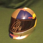 AUTOGRAPHED ROBBIE GORDON RED BULL 1/3 SIZE HELMET