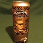 AUTOGRAPHED RUSTY WALLACE MILLER MGD LAST CALL 1/64 CAN CAR
