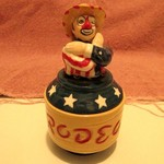 REALLY COOL RODEO CLOWN SALT & PEPPER SHAKERS