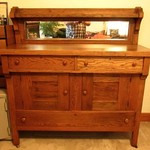 ****NICE ANTIQUE OAK BUFFET****