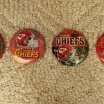 VINTAGE LARGE KC CHIEFS BUTTONS