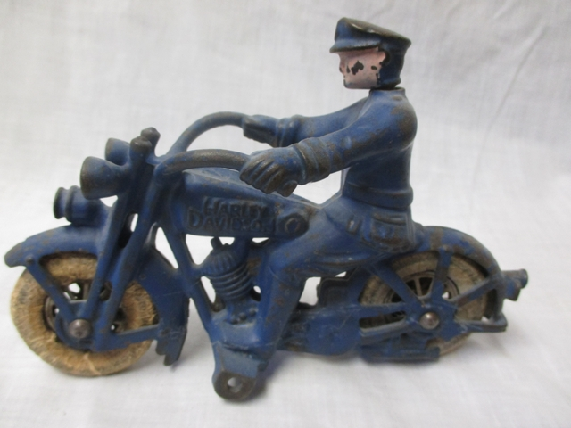 Cast Iron Antique Harley-Davidson Police Cycle