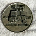 JOHN DEERE 2 MILLION TRACTORS MEDALLION 1980
