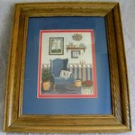 NICE KU MATTED AND FRAMED PICTURE