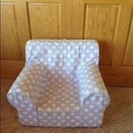 Light Purple and White Polka Dot Chair