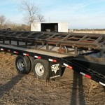 30' PJ 2013 Flatbed Trailer with Ramps